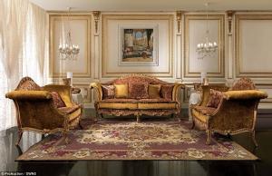 Choáng với căn biệt thự triệu đô toàn đồ nội thất dát vàng