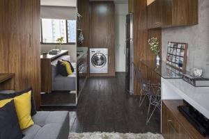 """""""Hô biến"""" phòng ngủ thành phòng ăn cực thần tốc trong căn hộ 30m²"""