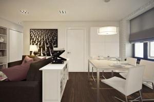 Ngắm căn hộ 45m² đẹp sang trọng với gam màu nâu – trắng