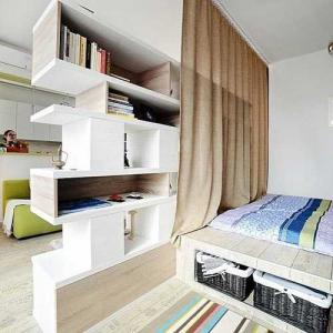 Ngăn chia không gian mở trong căn hộ chung cư