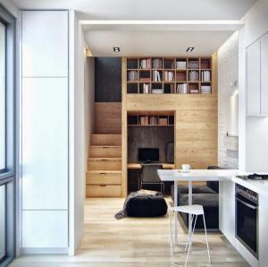Ngôi nhà 18m² đậm cá tính nhờ nội thất gỗ độc đáo