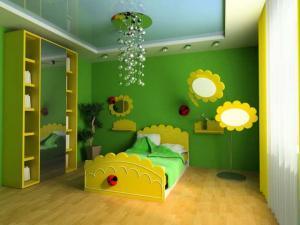 Phòng bé đẹp lung linh với chất liệu thạch cao