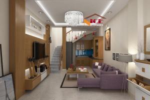 Nội thất phòng khách nhà CHỊ Hải tại đường Láng