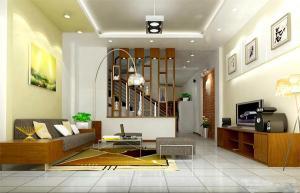 Vách trang trí phòng khách và cầu thang VTT39